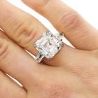 12.02ctw Asscher/Emerald Cut Diamond PLATINUM Ring