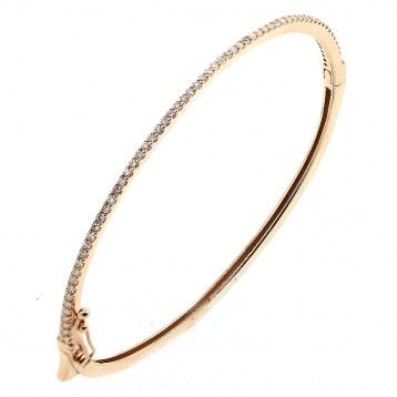 0.68 Diamond Bangle Bracelet set in 14K Rose Gold