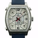 Jacob & Co 5 Time Zone White Face 3.25Ct Diamond Watch