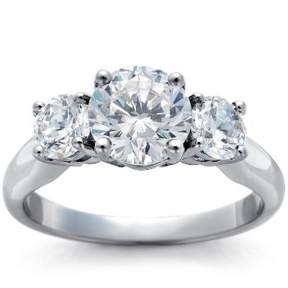 3 Stone Diamond Engagement Ring Setting