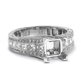 Wide Chanel set Antique style Diamond Engagement Ring setting