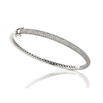 2.75Cts All Around Pave Diamond Bangle Bracelet