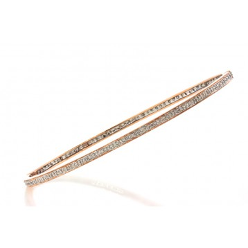 0.71Cts Rose Gold Diamond Bangle Bracelet