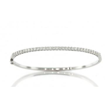 1.19Cts Half Way  Diamond Bangle Bracelet