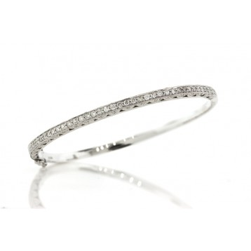 1.72Cts Antique Style Diamond Bangle Bracelet
