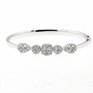 Diamond Braclet total 1.74 cts set in 14k white gold