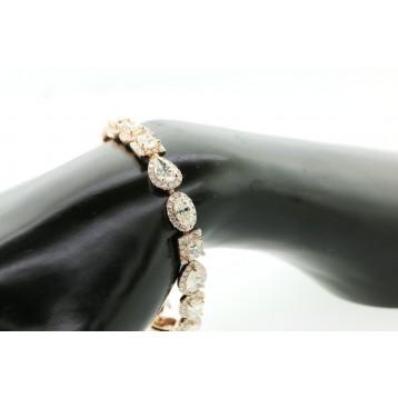 21.03 Ct Multi Diamond Cuts Bracelet 18K Rose Gold