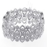 29.98 Cts Diamond Bracelete set in 18K white gold