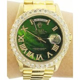 Rolex Presidential Day-Date with 3.25ctw Round cut Diamond Bezel 36mm Watch