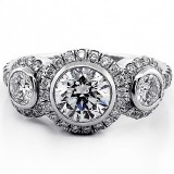 Engagement Ring Round Cut Diamond 2.55 cts