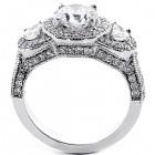 Engagement Ring Emerald Cut Diamond 3.15 Cts