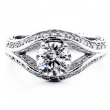 Engagement Ring , Round Brilliant Cut Diamond 1.60 Cts