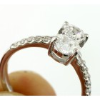 1.66 Cts Oval Diamond Engagement ring 18K white gold
