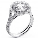 Engagement Ring , Round Brilliant cut Diamond 3.51 cts