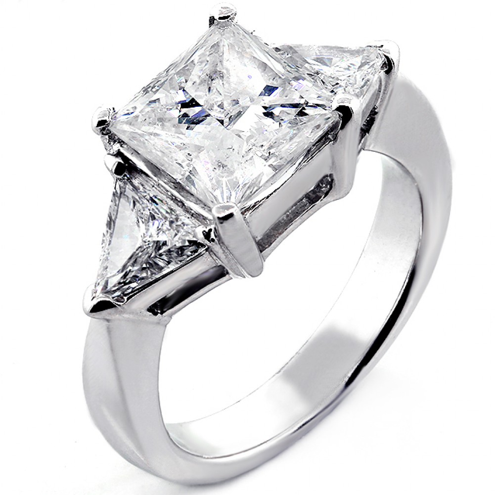 trillion wedding rings platinum engagement promise in with tw diamond cut best estate ring princess diamonds plqmtqm