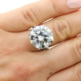 17.13cttw Brilliant Cut Diamond Platinum Ring