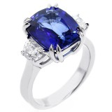 6.67 Cts J'adore Natural Corundum and Diamond Engagement Ring set in Platinum