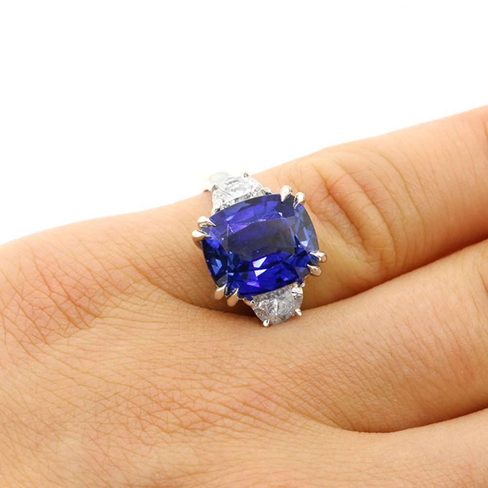 en wings corundum rings with stone ring