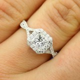 1.41 Cts Princess Cut Diamond Engagement Ring set in 18K White Gold