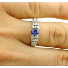 2.07 Cts Engagement Ring Natural Jadore 14k White Gold