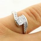 1.20 Cts Cushion Cut Diamond Engagement Ring Set in Platinum