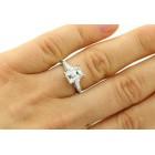 2.30 Ctw Tapered Baguette Diamond Engagement Ring in Platinum
