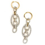 1.08 Cts. 14K Yellow Gold Diamond Drop Earrings