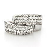 1.50 Cts. 14K White Gold Small Diamond Hoop Earrings