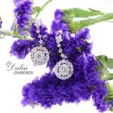 Dangly Fancy Diamond Earings total 3.43 cts set in 14k white gold