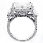 11.39ctw Princess/Round Cut Diamond Split Shank Ring PLATINUM
