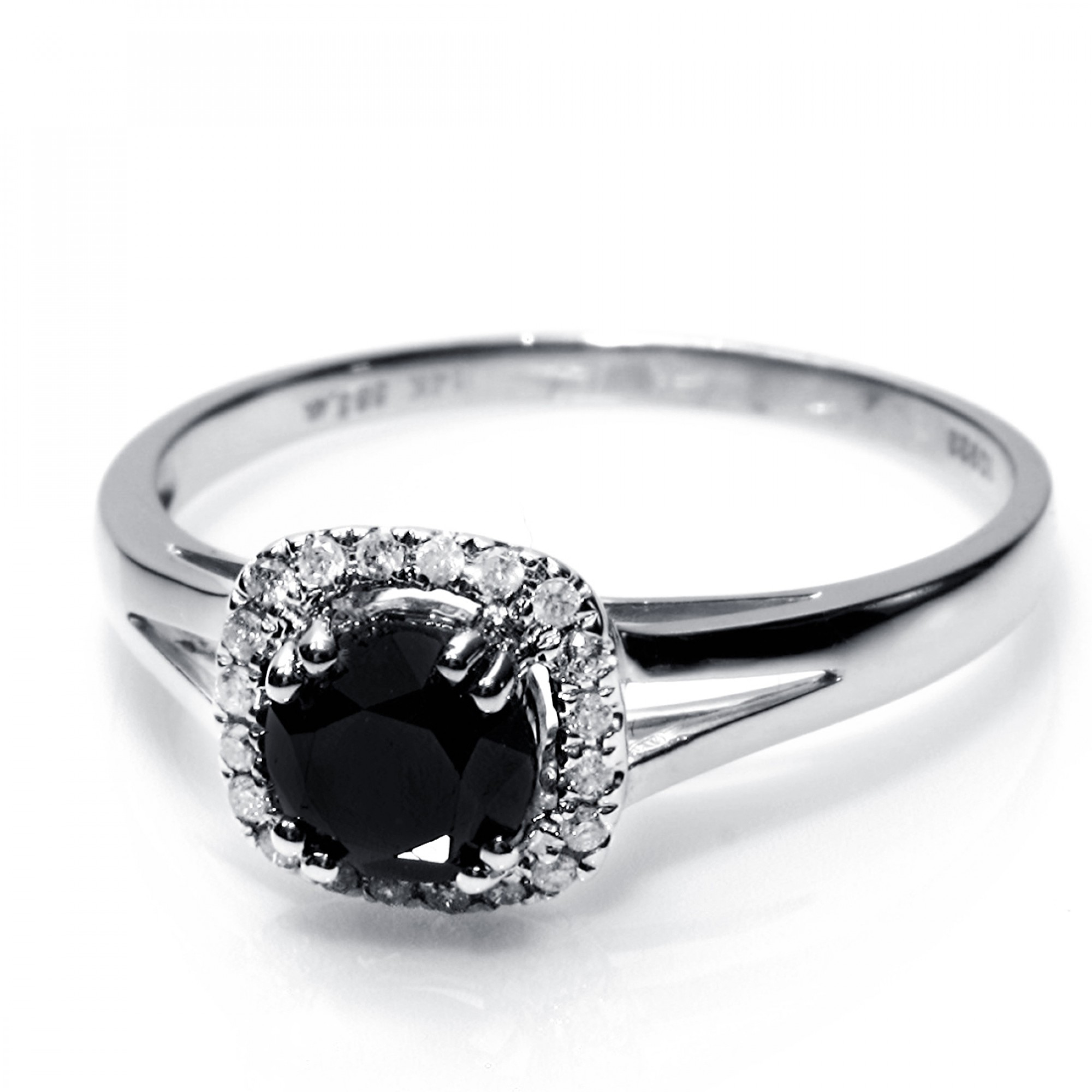 1 01 Cts 14k White Gold Black Diamond Ring Cheap Diamond Engagement Rings Buy Cheap Diamond Jewelry Diamond Engagement Rings Buy Engaged Rings Online Fine Jewelry Best Rings Engaged Ring Diamonds Forever Diamonds For You