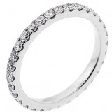 1.00 Ctw Round Cut Diamond Eternity Wedding Band Set in 14K White Gold