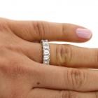 6.33 Cts Emerald Cut Diamond Eternity Wedding Band set in Platinum