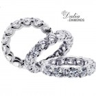 7.2 Ctw Round Cut Diamond Eternity Band Set in Platinum
