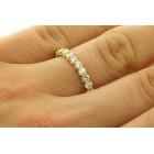 1.57 Cts Round-cut Diamond U-shape Eternity Wedding Band 18k Gold