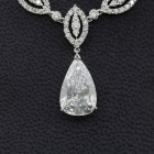 10.00 Cts Neckless with  6.05 Cts Pear Shape Diamond