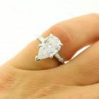 2.40 Cts Pear Shape Diamond Engagement Ring