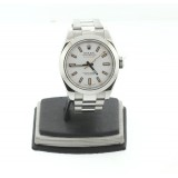 Rolex oyster perpetual milgauss stainless steel white dial