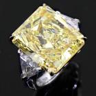 22.56ctw Radiant/Trillion Cut Diamond Ring PLATINUM