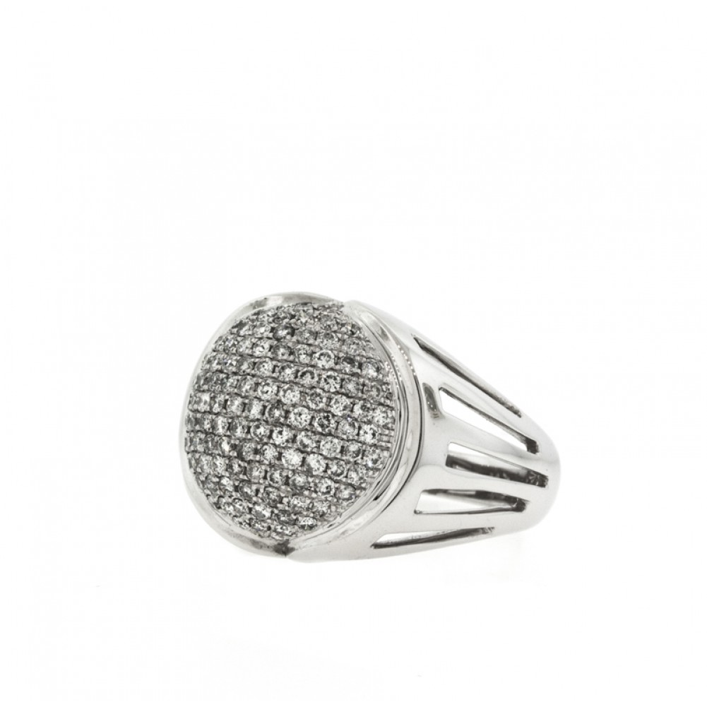 pave cool rings of handmade sterling elegant dome ring cz silver
