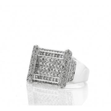 Men's Micro Pave Square Diamond Ring
