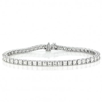8.24 Cts. 14K White Gold Princess Cut Diamond Bracelet