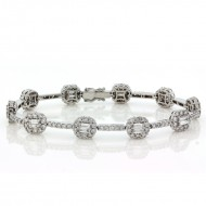 4.47 Cts. 18K White Gold Diamond Bracelet