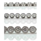 7.60 Cts. 18K White Gold Round Cut Diamond Bracelet