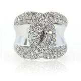 White Gold and Diamond Twist Ring