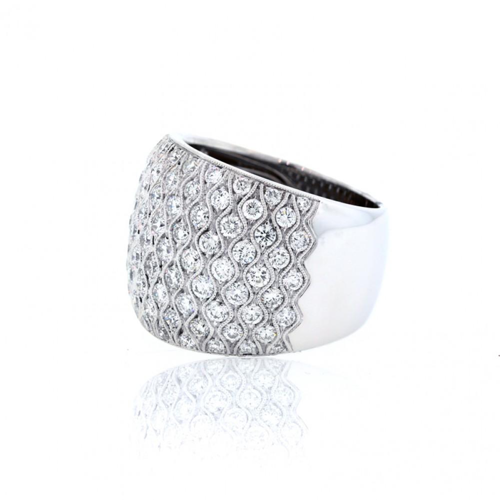 Wide Diamond Pave Ring