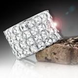 4 Row Asscher Cut Diamond Eternity Band