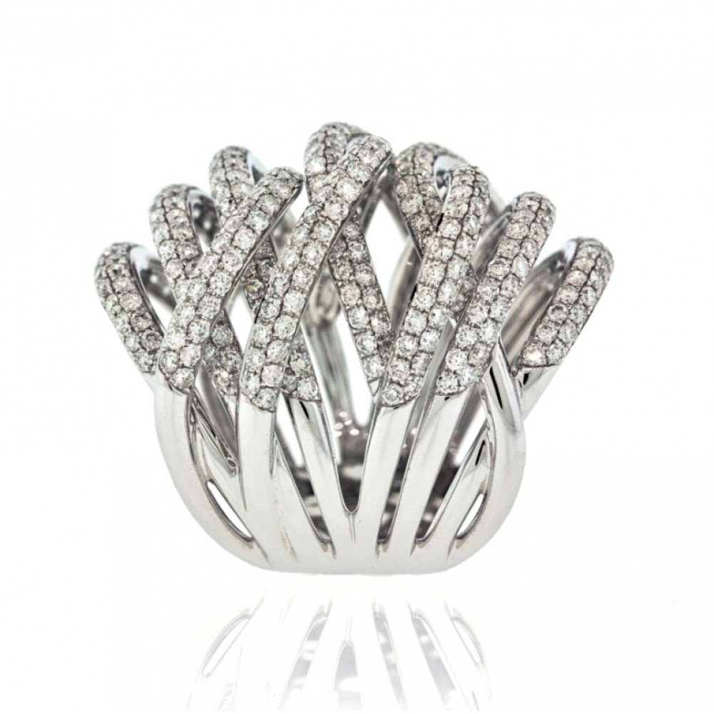 gold index baguette diamond white and round in cocktail ring cts set