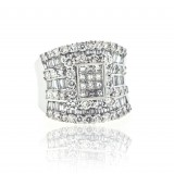 Wide Diamond Saddle Ring