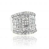 Wide Diamond Saddle Ring